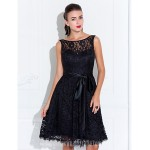 Wedding Party Dresses Australia Formal Dresses Cocktail Dress Party Dress Black Plus Sizes Dresses Petite A-line Jewel Short Knee-length Lace Formal Dress Australia