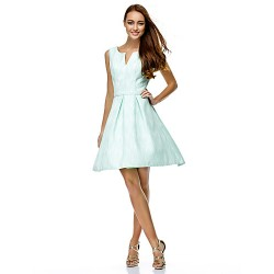 Australia Formal Dresses Cocktail Dress Party Dress Pool A Line V Neck Short Knee Length Polyester
