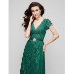 Australia Formal Dress Evening Gowns Military Ball Dress Dark Green Plus Sizes Dresses Petite A-line V-neck Long Floor-length Lace Dress Formal Dress Australia