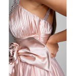 Australia Formal Evening Dress Prom Gowns Military Ball Dress Pearl Pink Plus Sizes Dresses Petite A-line Jewel Long Floor-length Stretch Satin Tulle Formal Dress Australia