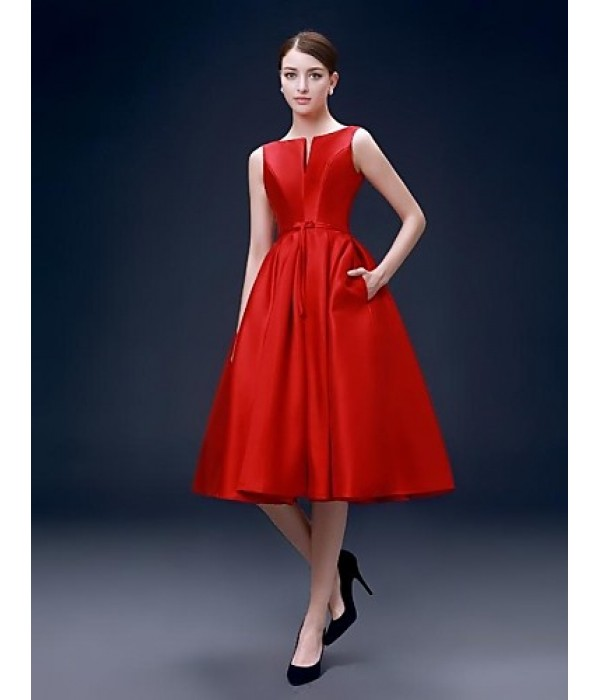 Australia Formal Dresses Cocktail Dress Party Dress Ruby Plus Sizes Dresses A-line Bateau Short Knee-length Satin Formal Dress Australia