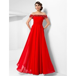 Australia Formal Dress Evening Gowns Military Ball Dress Ruby Plus Sizes Dresses Petite A Line Princess Off The Shoulder Long Floor Length Chiffon
