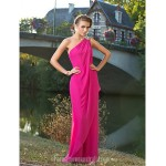 Australia Formal Dress Evening Gowns Wedding Party Dress Fuchsia Plus Sizes Dresses Petite Sexy One Shoulder Long Floor-length Chiffon Formal Dress Australia