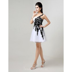 Australia Cocktail Party Dress White Plus Sizes Dresses Petite A-line Sexy One Shoulder Short Knee-length