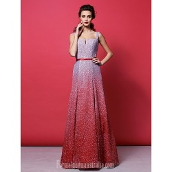 Australia Formal Dress Evening Gowns Multi-color Plus Sizes Dresses Petite A-line Straps Long Floor-length Sequined