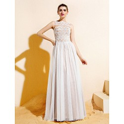 Long Floor Length Lace Dress Tulle Bridesmaid Dress Ivory Plus Sizes Dresses Petite A Line Bateau