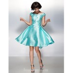 Australia Formal Dresses Cocktail Dress Party Dress Jade A-line Scoop Short Knee-length Satin Formal Dress Australia