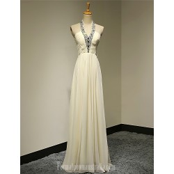 Australia Formal Dress Evening Gowns Daffodil Plus Sizes Dresses Petite A-line Halter Long Floor-length Chiffon