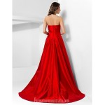 Australia Formal Dress Evening Gowns Ruby Plus Sizes Dresses Petite A-line Princess Strapless Court Train Taffeta Formal Dress Australia