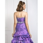 Prom Gowns Australia Formal Dress Evening Gowns Quinceanera Sweet 16 Dress Lilac Plus Sizes Dresses Petite Ball Gown A-line Princess Strapless Long Floor-length Formal Dress Australia