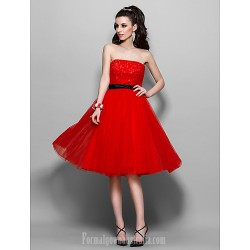 Australia Formal Dresses Cocktail Dress Party Dress Prom Gowns Homecoming Holiday Dress Ruby Plus Sizes Dresses Petite A Line Strapless Short Knee Length Tulle