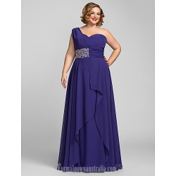 Australia Formal Dress Evening Gowns Prom Gowns Military Ball Dress Regency Plus Sizes Dresses Petite A-line Sexy One Shoulder Long Floor-length Chiffon