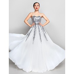 Australia Formal Dress Evening Gowns Prom Gowns Military Ball Dress Ivory Plus Sizes Dresses Petite A Line Sweetheart Long Floor Length Chiffon Sequined