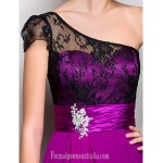 Australia Formal Dress Evening Gowns Military Ball Dress Fuchsia Plus Sizes Dresses Petite A-line Sexy One Shoulder Long Floor-length Georgette Formal Dress Australia