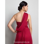 Australia Formal Dress Evening Gowns Prom Gowns Military Ball Dress Burgundy Plus Sizes Dresses Petite A-line Sexy One Shoulder Long Floor-length Chiffon Formal Dress Australia