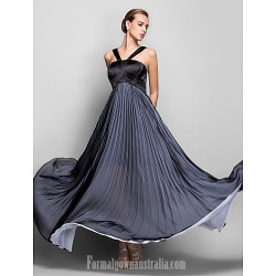 Australia Formal Evening Dress Military Ball Dress Black Plus Sizes Dresses Petite A-line Halter Long Floor-length Chiffon