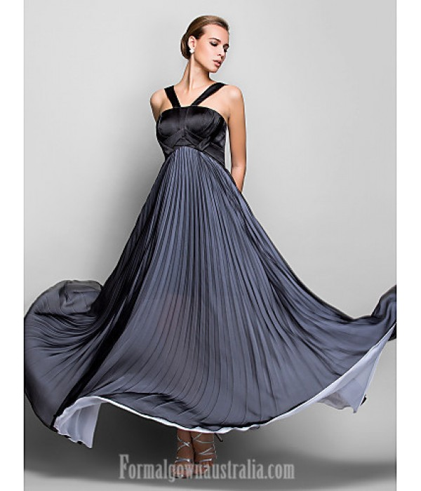 Australia Formal Dress Evening Gowns Military Ball Dress Black Plus Sizes Dresses Petite A-line Halter Long Floor-length Chiffon Formal Dress Australia