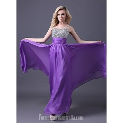 Australia Formal Dress Evening Gowns Lilac Royal Blue Pool Ruby White Plus Sizes Dresses Petite A-line Sweetheart Long Floor-length Chiffon