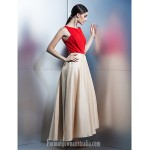 Company Party Dress Multi-color A-line Scoop Ankle-length Taffeta Formal Dress Australia