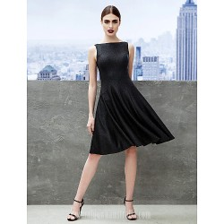 Australia Cocktail Party Dress Black A-line Bateau Short Knee-length Jersey