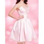 Australia Formal Dresses Cocktail Dress Party Dress Sweet 16 Dress Blushing Pink Plus Sizes Dresses Petite A-line Princess Ball Gown Strapless Short Knee-length Satin Formal Dress Australia