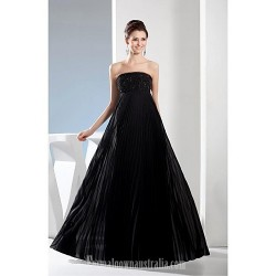 Australia Formal Dress Evening Gowns Black A Line Strapless Long Floor Length Satin