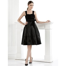 Australia Formal Dresses Cocktail Dress Party Dress Black Plus Sizes Dresses Petite A Line Straps Short Knee Length Velvet