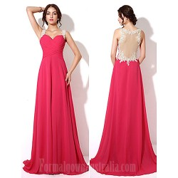 Australia Formal Dress Evening Gowns Fuchsia Plus Sizes Dresses Petite A-line Sweetheart Long Floor-length