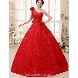 Ball Gown Wedding Dress Ruby Long Floor Length Sexy One Shoulder Lace