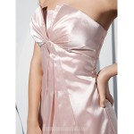 A-line Strapless Court Train Charmeuse Evening Dress Formal Dress Australia