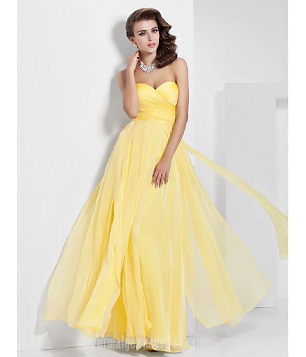Australia Formal Dress Evening Gowns Prom Gowns Military Ball Dress Daffodil Plus Sizes Dresses Petite A-line Princess Sweetheart Strapless Long Floor-length Chiffon Formal Dress Australia
