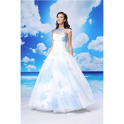Ball Gown Australia Formal Dress Evening Gowns White Long Floor Length Jewel Organza Satin