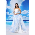 A-line Australia Formal Evening Dress White Court Train Sweetheart Lace Organza Satin Formal Dress Australia