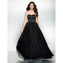 Australia Formal Dress Evening Gowns Black A Line Sweetheart Long Floor Length Organza Satin