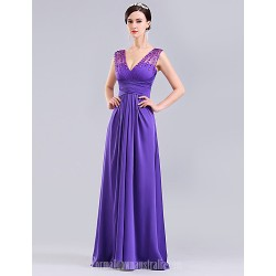 Australia Formal Dress Evening Gowns Ruby Lilac Ball Gown V Neck Long Floor Length Tulle Dress Charmeuse Knit