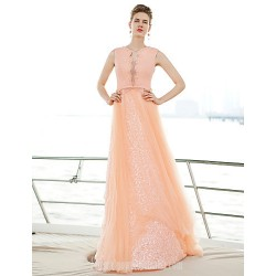 Australia Formal Evening Dress Pearl Pink A-line Sweetheart Long Floor-length Tulle Dress
