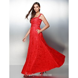 Australia Formal Dress Evening Gowns Ruby A Line Straps Ankle Length Lace