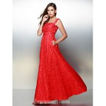 Australia Formal Dress Evening Gowns Ruby A-line Straps Ankle-length Lace Formal Dress Australia