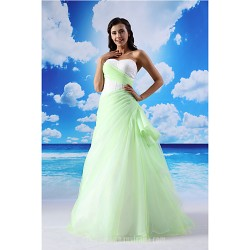 A Line Australia Formal Dress Evening Gowns Sage Long Floor Length Sweetheart Lace Organza Satin