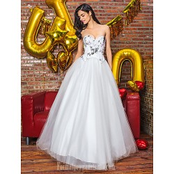 A Line Australia Formal Dress Evening Gowns White Long Floor Length Sweetheart Organza Satin