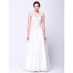 Australia Formal Dress Evening Gowns Ivory A Line Sweetheart Long Floor Length Tulle Dress