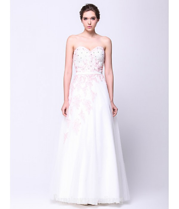 Australia Formal Dress Evening Gowns Ivory A-line Sweetheart Long Floor-length Tulle Dress Formal Dress Australia