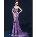 Australia Formal Dress Evening Gowns Lilac Plus Sizes Dresses Ball Gown Sexy One Shoulder Long Floor-length Velet Chiffon Formal Dress Australia