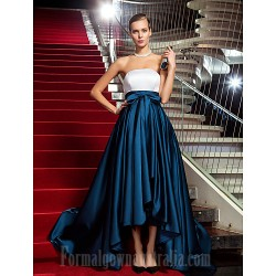 Military Ball Australia Formal Dress Evening Gowns Multi-color Plus Sizes Dresses Petite A-line Princess Strapless Asymmetrical Satin