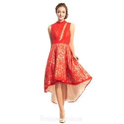 Australia Formal Dresses Cocktail Dress Party Dress Ruby A-line High Neck Asymmetrical Lace