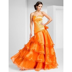 Prom Gowns Australia Formal Dress Evening Gowns Orange Plus Sizes Dresses Petite A Line Princess Strapless Sweetheart Long Floor Length Organza