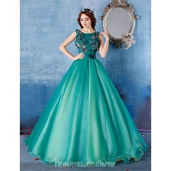Australia Formal Dress Evening Gowns Dark Green Ball Gown Scoop Long Floor Length Satin