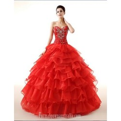 Ball Gown Sweetheart Long Floor Length Georgette Wedding Dress