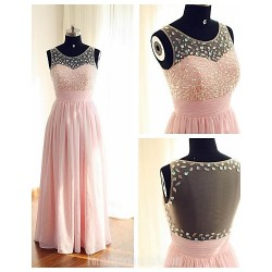 Australia Formal Dress Evening Gowns Candy Pink Ball Gown Scoop Long Floor Length Chiffon