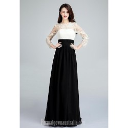 Australia Formal Dress Evening Gowns Ivory Ball Gown Jewel Long Floor Length Chiffon